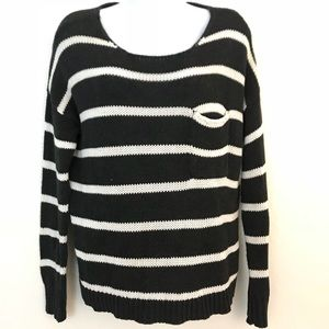 AEO   pullover striped front pocket sweater